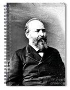 James A. Garfield, 20th American Spiral Notebook