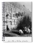 Jerusalem: Wailing Wall Spiral Notebook