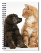 Kitten And Puppy Spiral Notebook