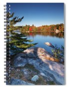 Lake George At Killarney Provincial Park In Fall Spiral Notebook