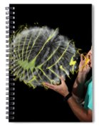 Man Over-inflating Balloon Spiral Notebook