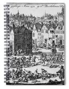 Massacre Of Huguenots Spiral Notebook