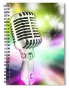Microphone On Stage Spiral Notebook