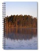 Morning Mist At Haukkajarvi Spiral Notebook