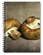 2 Mushrooms Spiral Notebook
