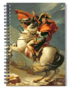 Napoleon Crossing The Alps On 20th May 1800 Spiral Notebook