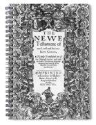 New Testament, King James Bible Spiral Notebook