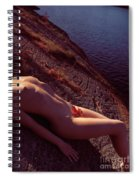 Nude Woman Lying On Rocks By The Water Spiral Notebook