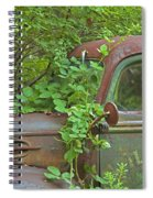 Overgrown Rusty Ford Pickup Truck Spiral Notebook