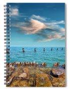 Pier Posts Spiral Notebook