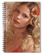 Portrait Of A Beautiful Young Woman Spiral Notebook