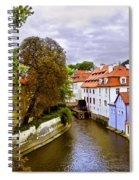Red Roofs Of Prague Spiral Notebook