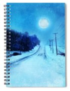 Rural Road In Winter Spiral Notebook