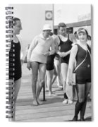 Silent Film Still: Beach Spiral Notebook