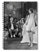 Silent Film Still: Fashion Spiral Notebook