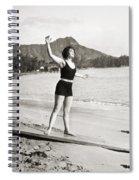 Silent Still: Bathing Spiral Notebook