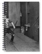 Silent Still: Man In Distress Spiral Notebook
