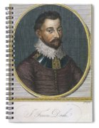 Sir Francis Drake, English Explorer Spiral Notebook