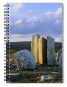 Standing Stones, Blacksod Point, Co Spiral Notebook