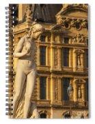 Statue Below Musee Du Louvre Spiral Notebook