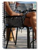 Stripped Dress Spiral Notebook