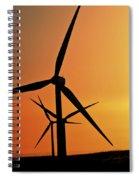 Sun Glare Upon Alberta Windfarm Spiral Notebook