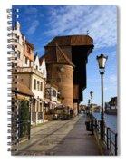 The Crane In Gdansk Spiral Notebook
