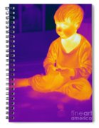 Thermogram Of A Boy Spiral Notebook
