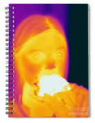 Thermogram Of A Girl Spiral Notebook