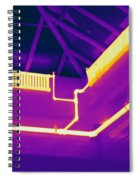 Thermogram Of Steam Pipes Spiral Notebook