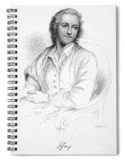 Thomas Gray (1716-1771) Spiral Notebook