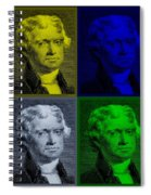 Thomas Jefferson In Quad Colors Spiral Notebook