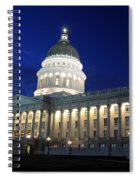 Utah Capitol Building At Twilight Spiral Notebook