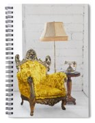 Victorian Sofa In White Room Spiral Notebook