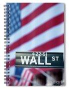 Wall Street Flag Spiral Notebook