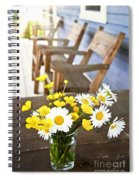 Wildflowers Bouquet At Cottage Spiral Notebook