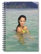 Woman At Kaneohe Sandbar Spiral Notebook