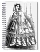 Womens Fashion. C1850s Spiral Notebook