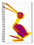 X-ray Of A Wooden Duck Toy Spiral Notebook