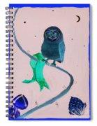 2008 Owl Negative Spiral Notebook