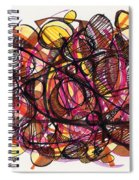 2010 Abstract Drawing 24 Spiral Notebook
