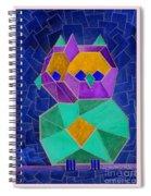 2010 Cubist Owl Negative Spiral Notebook
