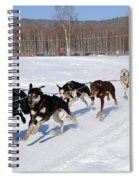 2010 Limited North American Sled Dog Race Spiral Notebook