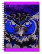 2011 Dreamy Horned Owl Negative Spiral Notebook