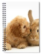 Puppy And Rabbit Spiral Notebook