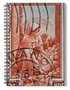 25 Lire Italian Stamp - Milano Cancelled Spiral Notebook