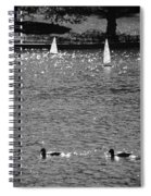 2boats2ducks In Black And White Spiral Notebook