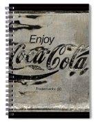 Coca Cola Sign Grungy Retro Style Spiral Notebook