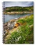 Atlantic Coast In Newfoundland Spiral Notebook