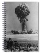 Atomic Bomb Explosion Spiral Notebook